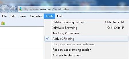 active-x-filtering-menu